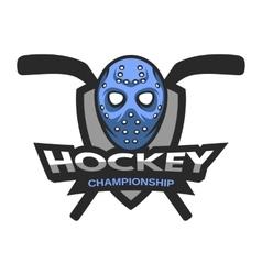 Goalie mask Hockey logo emblem vector image