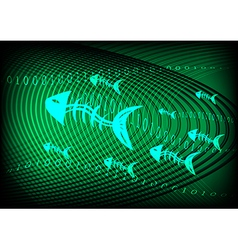 Phishing information technology green vector