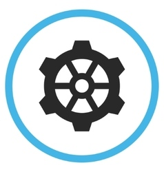Gear flat rounded icon vector