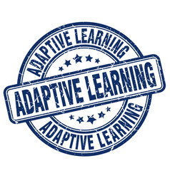 Adaptive learning blue grunge stamp vector