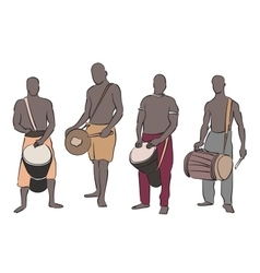African musician set vector image