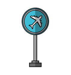 Airport location sign icon vector