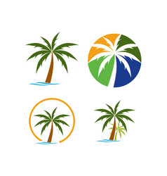 beach logo template vector image