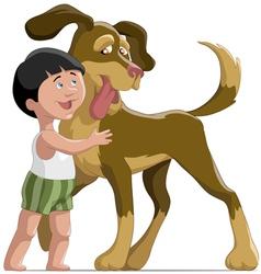 boyanddog vector image vector image