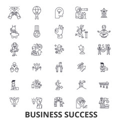business success concept growth successful vector image