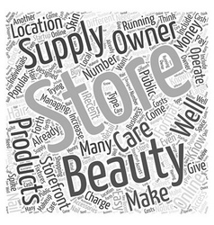Can you make money as a beauty supply store owner vector