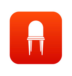 chair icon digital red vector image vector image