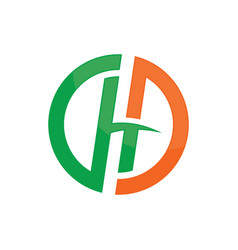 circle h company concept logo image vector image vector image