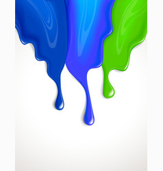 drips of paint vector image