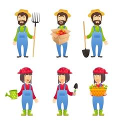 Farmer cartoon character vector