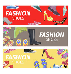 Fashion shoes advertising poster vector