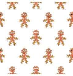 Gingerbread man cookies seamless pattern vector