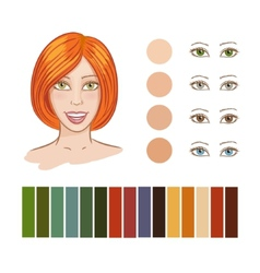 Girl autumn color type vector image vector image