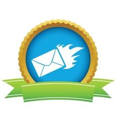 Gold hot letter logo vector