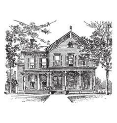 Home of william mckinley vintage vector