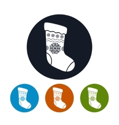 Icon of a christmas sock vector