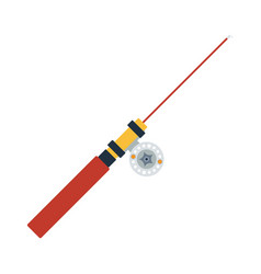 Icon of fishing winter tackle vector