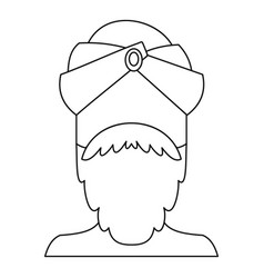 indian man icon outline style vector image vector image