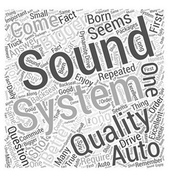 Is bigger better in auto sound systems word cloud vector