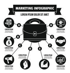 Marketing infographic concept simple style vector