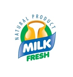 Milk logo vector
