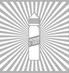 Personal vaporizer e-cigarette e-juice liquid vector