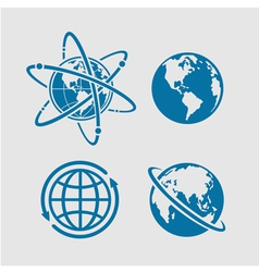Planet symbol vector image vector image