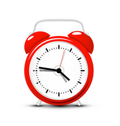 red alarm clock time icon isolated on white vector image vector image