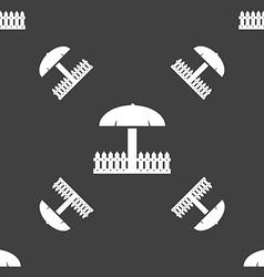 Sandbox icon sign seamless pattern on a gray vector