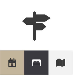 Set of 4 editable trip icons includes symbols vector