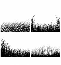 set of grass backgrounds vector image