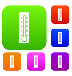 thermometer set collection vector image