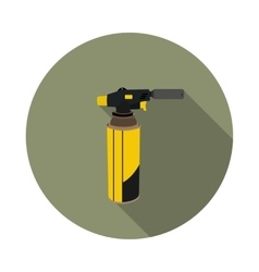 Flat icon gas torch for soldering vector