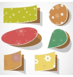Note papers with flowers vector