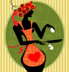 Funny housewife vector