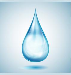 One big blue drop vector