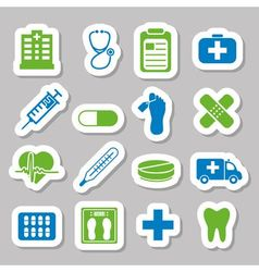 Hospital stickers vector