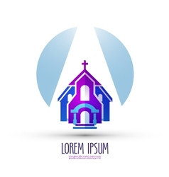 Church logo design template religion or temple vector