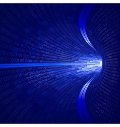 Blue binary tunnel vector
