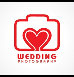 Wedding photography concept vector