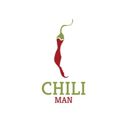 Hot chili pepper with face design template vector