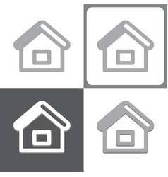 Homepage or house icon vector