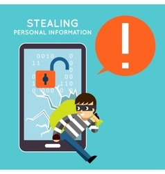 Stealing personal information from your mobile vector