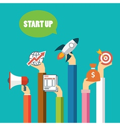 Start up business concept flat design vector