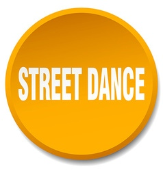 Street dance orange round flat isolated push vector