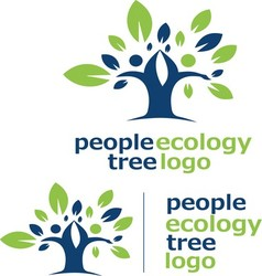people ecology tree logo 2 vector image