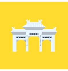 Rsing shan monastery memorial archway in hong kong vector