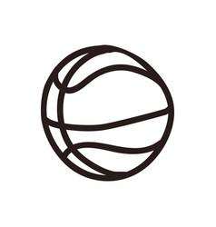 Basketball doodle cartoon vector