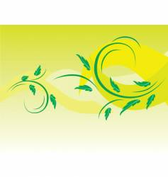 botanical background of green leaves vector image vector image