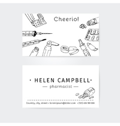 business cards design template for medical advisor vector image vector image